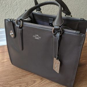 Authentic dark brown coach purse